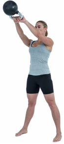 Kettlebell swing for functional fitness